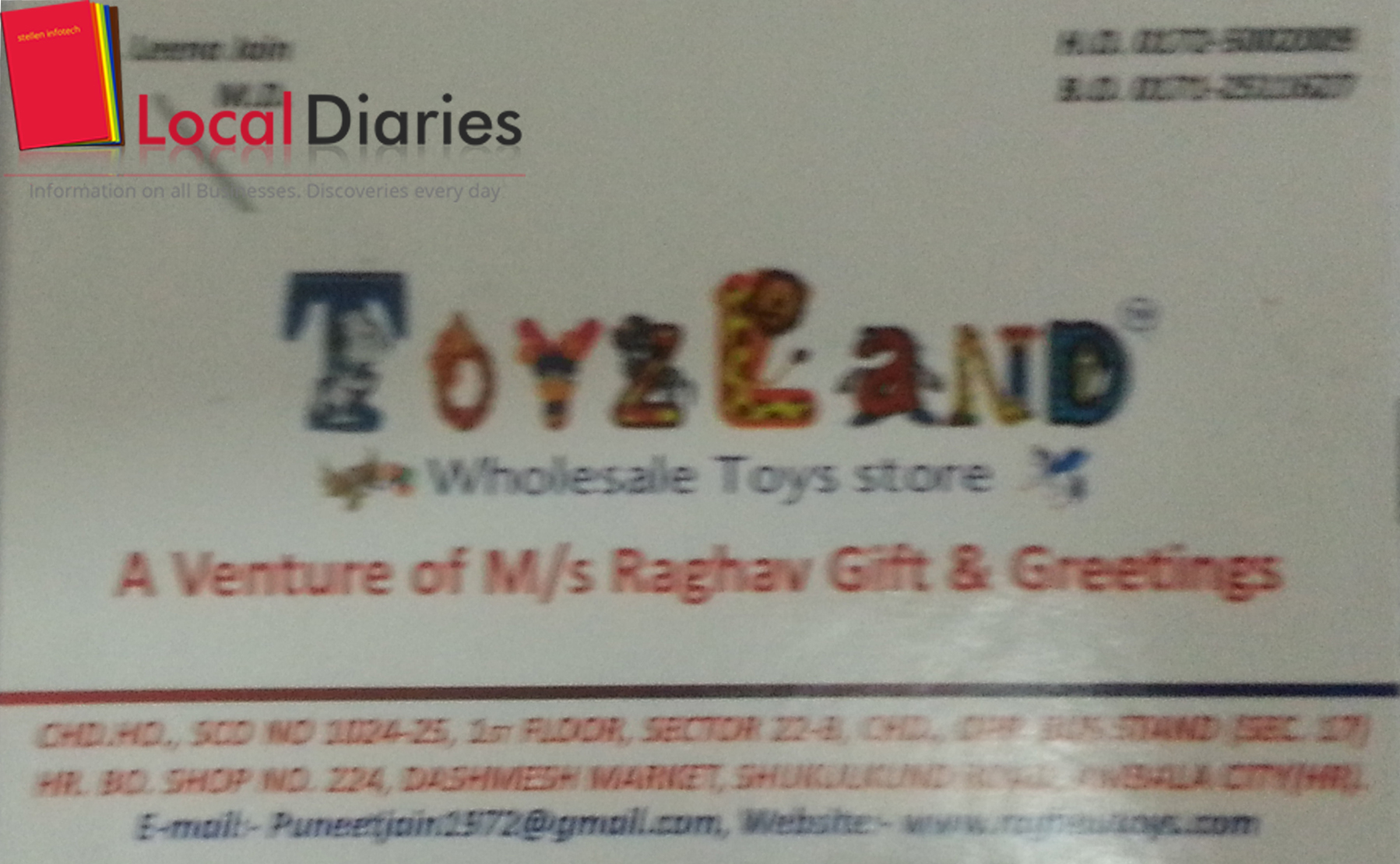List of Toys Wholesalers and Distributors in Chandigarh