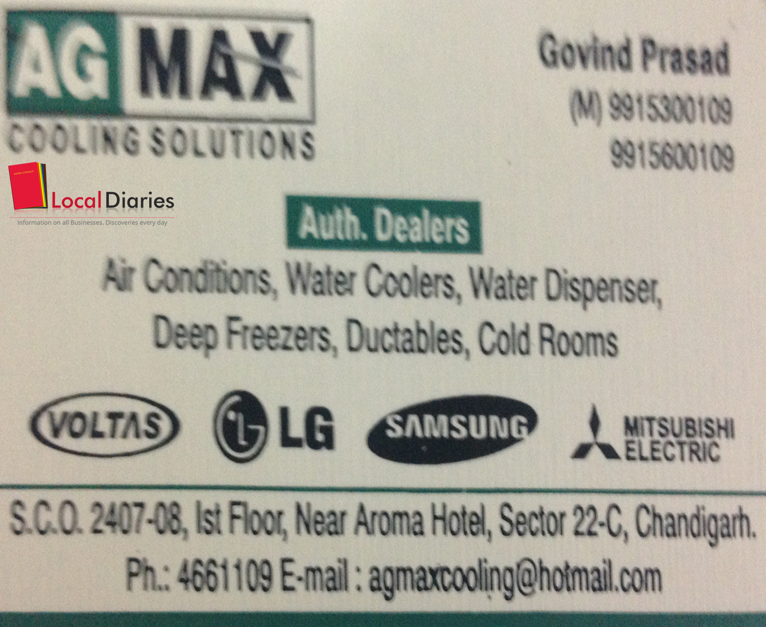 Ag Max Cooling Solutions In Sector 22 C Chandigarh