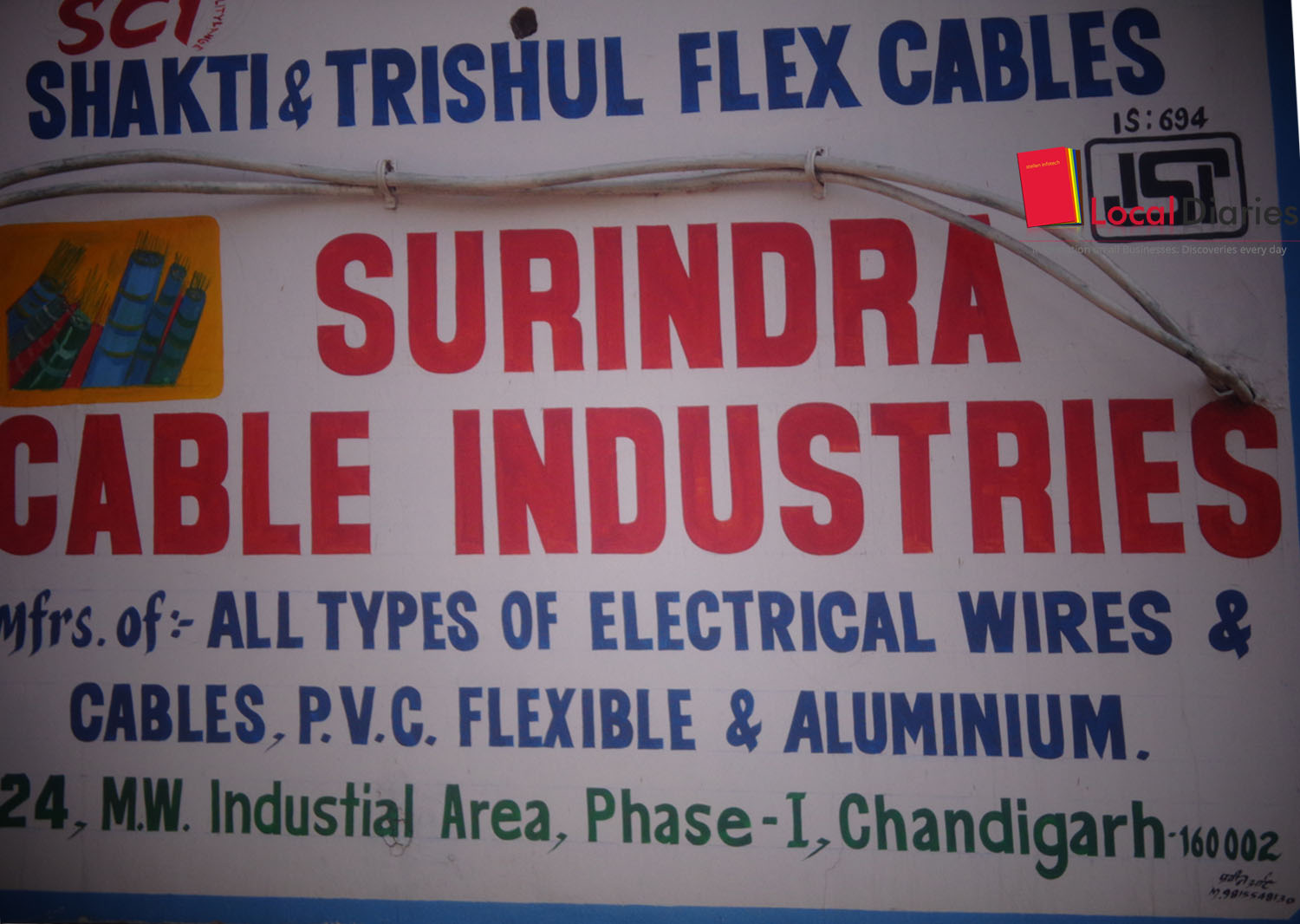 List Of Wire Manufacturers And Suppliers In Chandigarh Local Diaries Wiring Harness Delhi Surindera Cable Industries