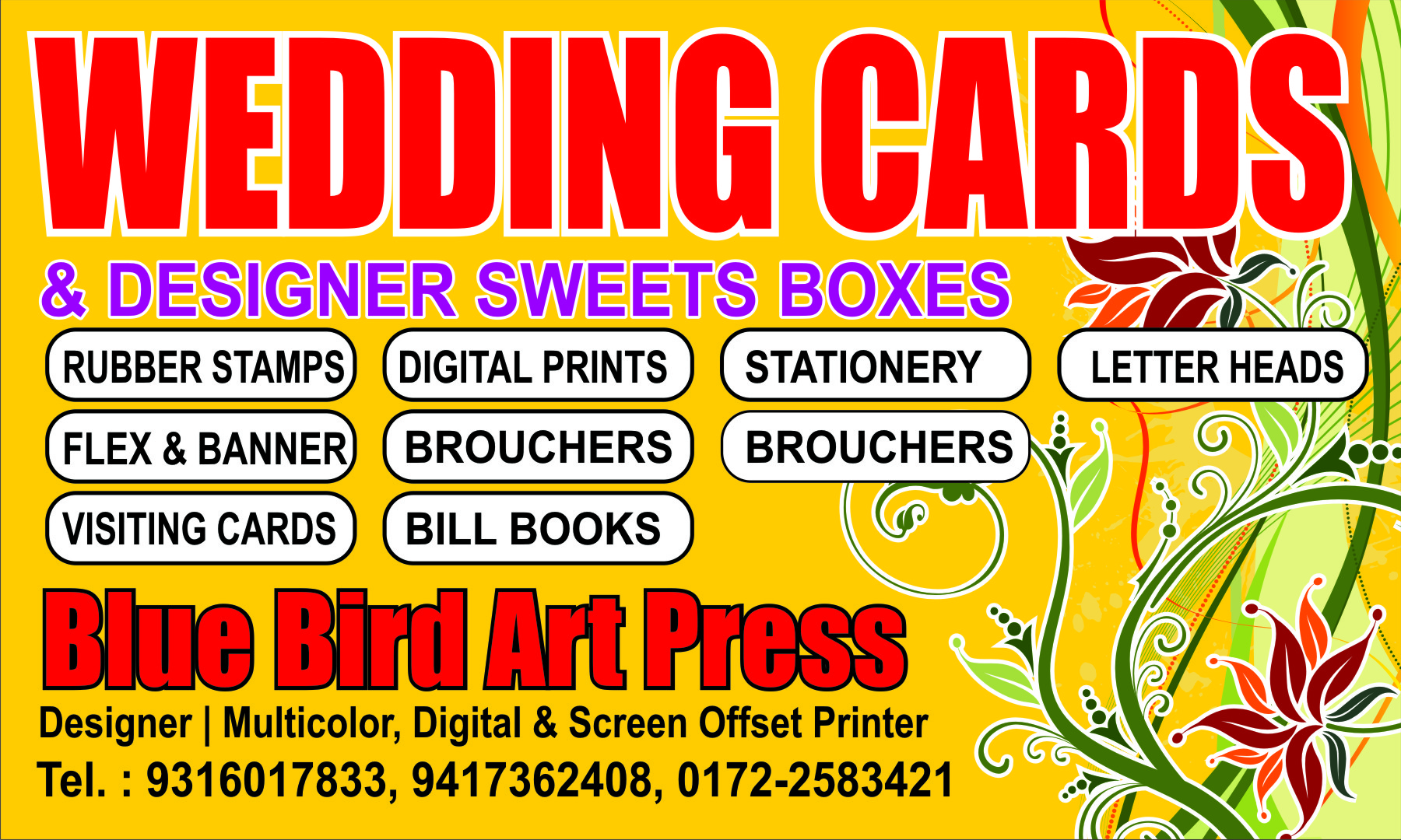 blue bird printing in phase 1 industrial area  panchkula